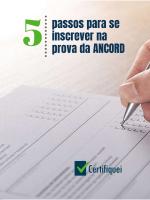 5 Passos para se inscrever na prova da ANCORD (AAI)